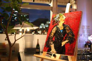 岡島久子がモデルのフラメンコ絵画
