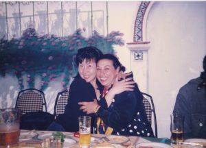 コンチャ・バルガスと岡島久子の写真
