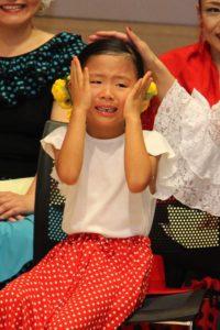 大阪天満橋フラメンコイベントでのキッズ生徒の写真