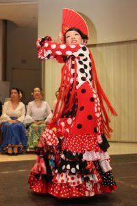 大阪天満橋フラメンコイベントで踊る岡島久子の写真