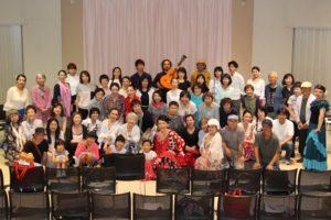 大阪天満橋フラメンコイベントの全員集合写真