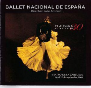スペイン国立バレエ団マドリッド公演のパンフレット表紙