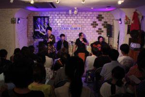 岡島久子フラメンコ教室生徒ライブ2018@大阪/ステージで話す岡島久子