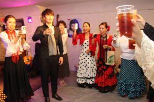 岡島久子フラメンコ教室生徒ライブ2018@大阪/終演後乾杯の時