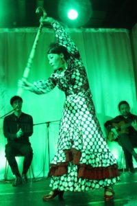 大阪梅田フラメンコライブ2018でタンゴを踊る岡島久子の写真