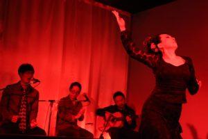 大阪梅田グランフロント大阪フラメンコライブでソレアでを踊る岡島久子の写真