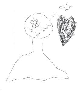 「フラメンコ夏の宴」イベントを観覧した4歳児にもらった絵手紙