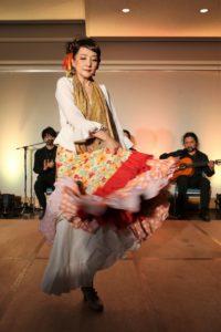 フラメンコ夏の宴2019@大阪中之島で踊るプライベートレッスン生徒の写真