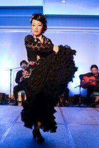 フラメンコ夏の宴2019@大阪中之島で踊るフラメンコ舞踊家岡島久子の写真