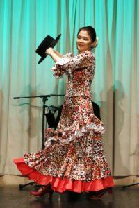 岡島久子フラメンコ教室感謝祭@大阪天満橋で踊るプライベートレッスン生徒の写真